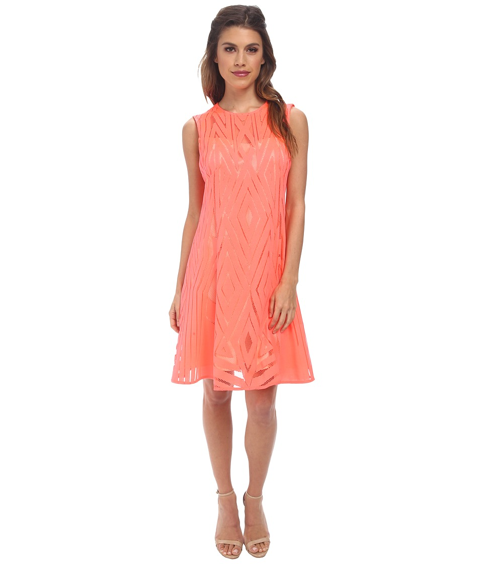 Nanette Lepore - Villa Dress (Neon Coral) Women's Dress