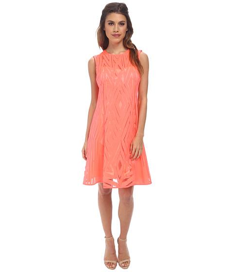 Nanette Lepore - Villa Dress (Neon Coral) Women's Dress