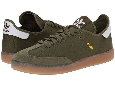 adidas Originals - Samba MC (Olive Cargo/White/Gold Metallic) Men's Soccer Shoes