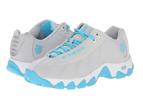 K-Swiss - ST329 (Gull Gray/Blue Atoll) Women's Cross Training Shoes
