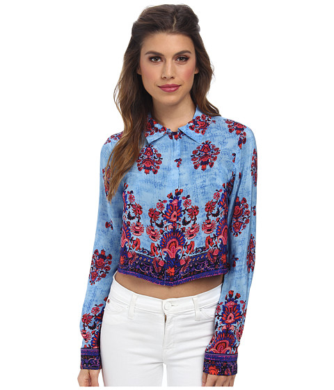 Nanette Lepore - Roam Free Shirt (Blue Sky Multi) Women