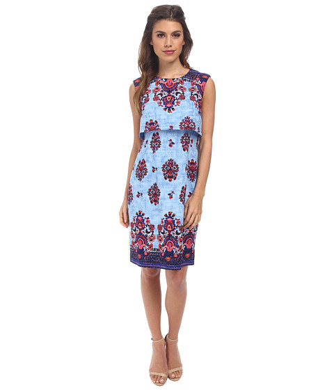 Nanette Lepore - Jodhpur Dress (Blue Sky Multi) Women