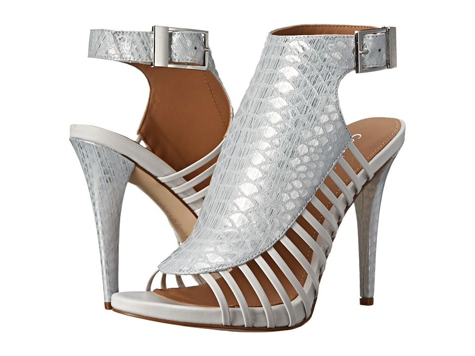 Calvin Klein - Nalani (Silver/Platinum White Painted Snake Metallic) High Heels