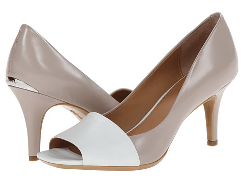 Calvin Klein - Nareen (Greige/Platinum White Leather) High Heels