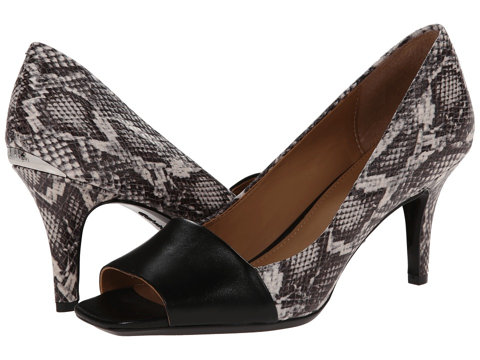 Calvin Klein - Nareen (Black/Black/White Multi Snake) High Heels