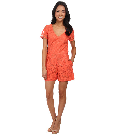 Trina Turk - Florencia Romper (Coral) Women's Jumpsuit & Rompers One Piece