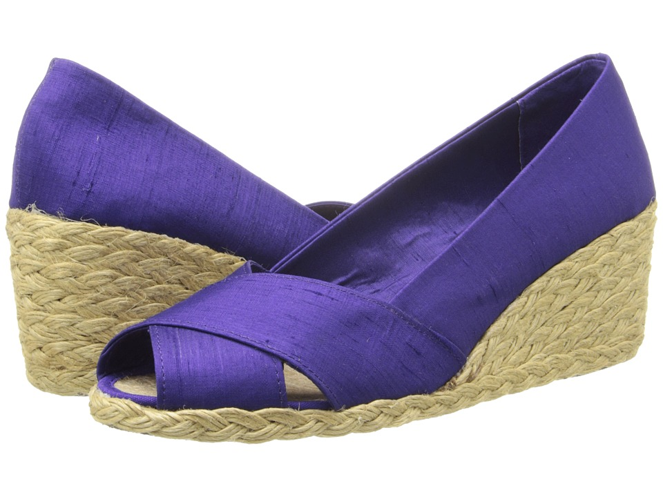 LAUREN by Ralph Lauren - Cecilia (Iris Shantung) Women's Wedge Shoes