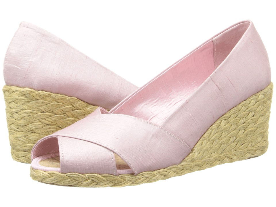 LAUREN by Ralph Lauren - Cecilia (Carnation Shantung) Women's Wedge Shoes