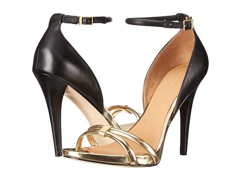 Womens Shoes Calvin Klein Nathali Warm Gold/Black Metallic