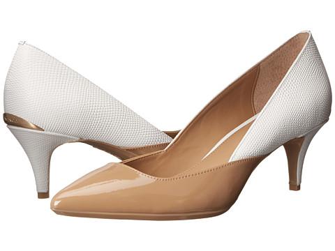 Calvin Klein - Patna (Sand Gold/Platinum White Patent Baby Python) Women's 1-2 inch heel Shoes