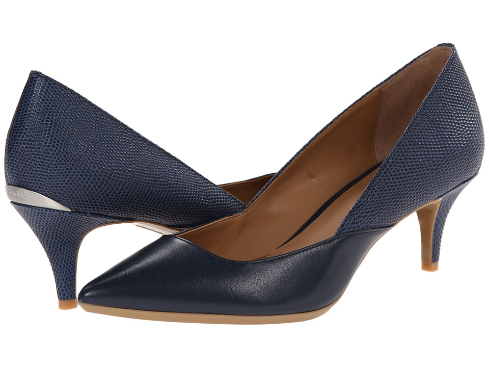 Calvin Klein - Patna (Navy Kid Skin) Women's 1-2 inch heel Shoes