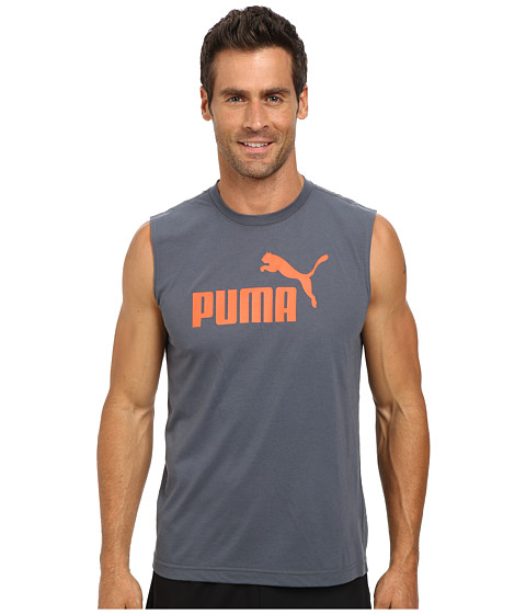 PUMA - Essential No. 1 Logo Sleeveless Tee (Turbulence) Men