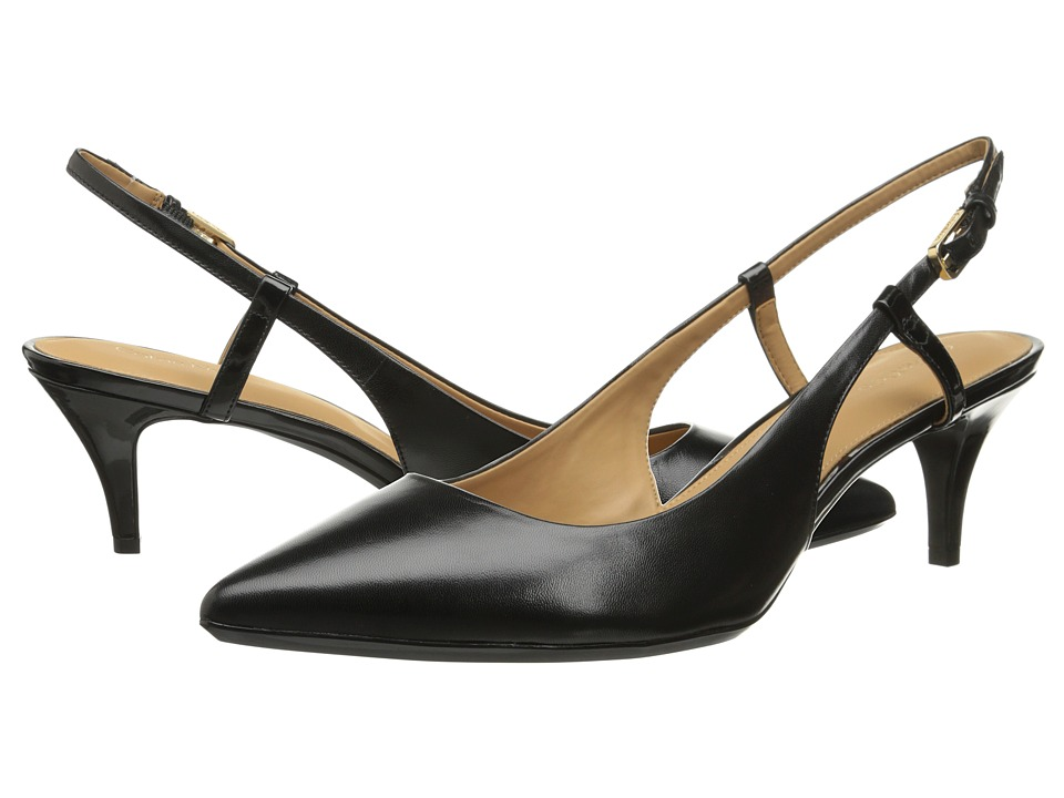 Calvin Klein - Patsi (Black Kid Skin/Patent) High Heels