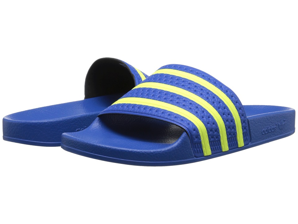 adidas Originals - adilette (Bluebird/Light Flash Yellow/Bluebird) Men's Slide Shoes