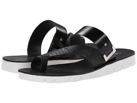 Calvin Klein - Pax (Black Baby Python) Women's Sandals