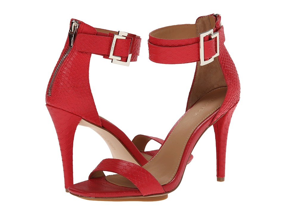Calvin Klein - Sable (Lacquer Red Baby Python) Women's Dress Sandals