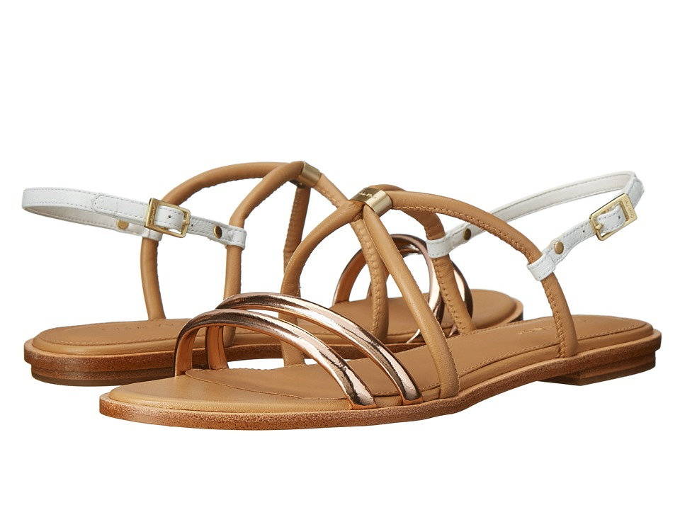 Calvin Klein - Udela (Rose Gold/Sand Gold Leather) Women's Sandals