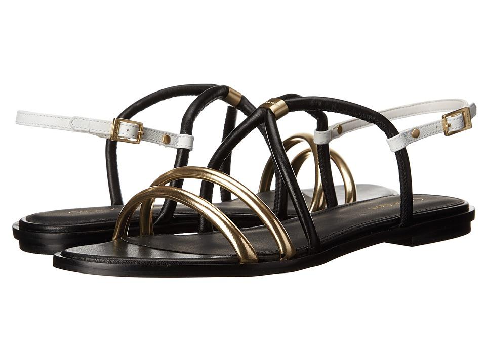 Calvin Klein - Udela (Warm Gold/Black Leather) Women
