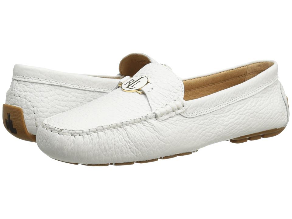 LAUREN Ralph Lauren - Carley (RL White Rockpile Tumble) Women's Slip on Shoes