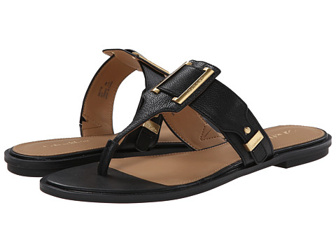 Calvin Klein - Ula (Black Toscana Leather) Women's Sandals