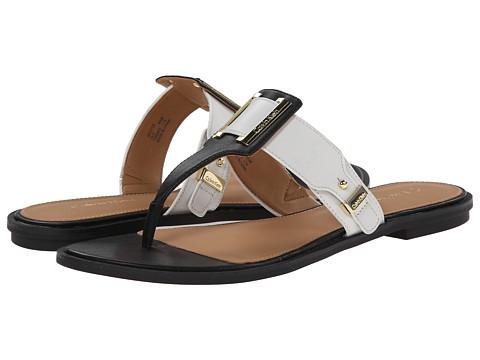 Calvin Klein - Ula (Black/White Leather) Women's Sandals
