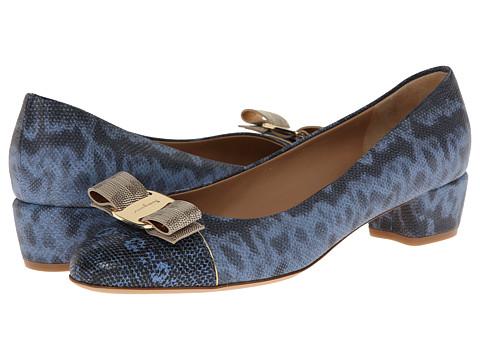 Salvatore Ferragamo - Vara Luxury (Fleur Bleue Lizard Calf) Women
