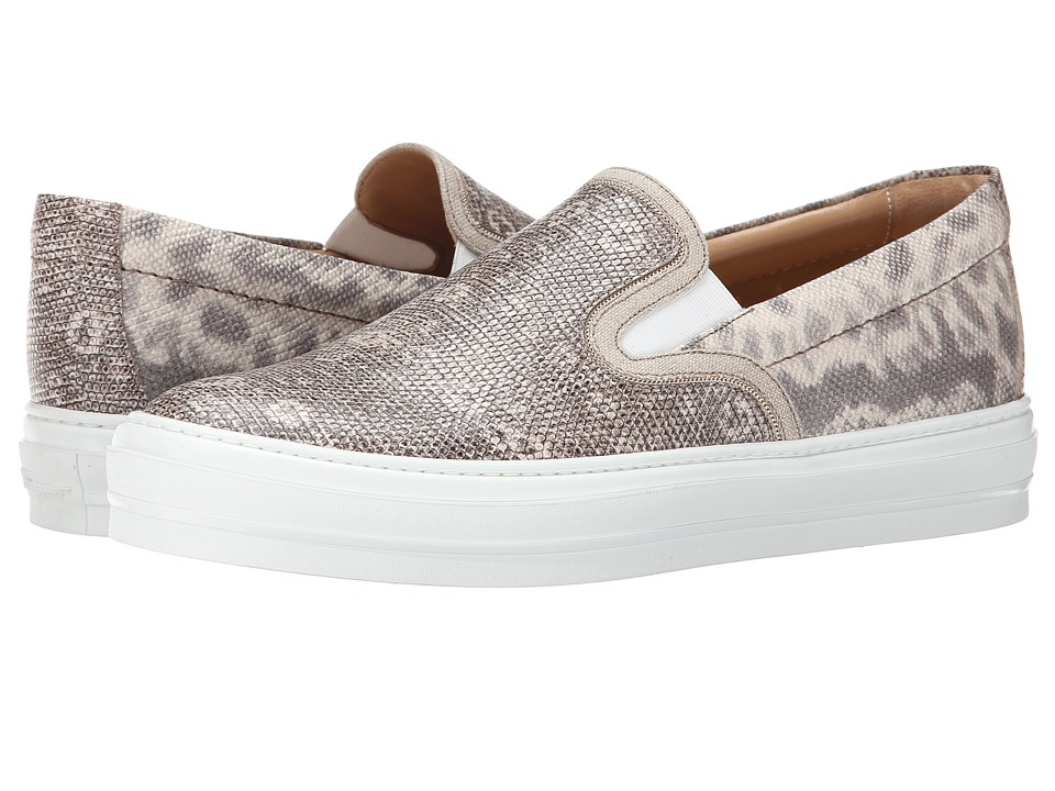 Salvatore Ferragamo Lizard Stamped Slip-on Sneaker (Roccia Lizard Calf) Women