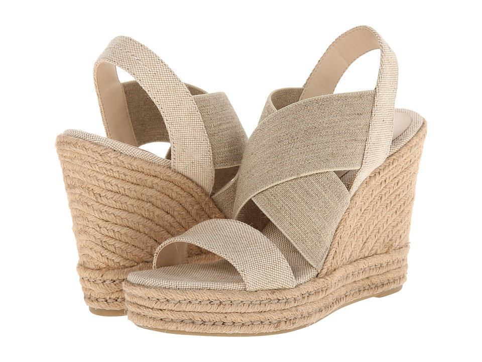 LAUREN by Ralph Lauren - Erica (Natural/Flax Faded Burlap/Twill Elastic) Women's Wedge Shoes