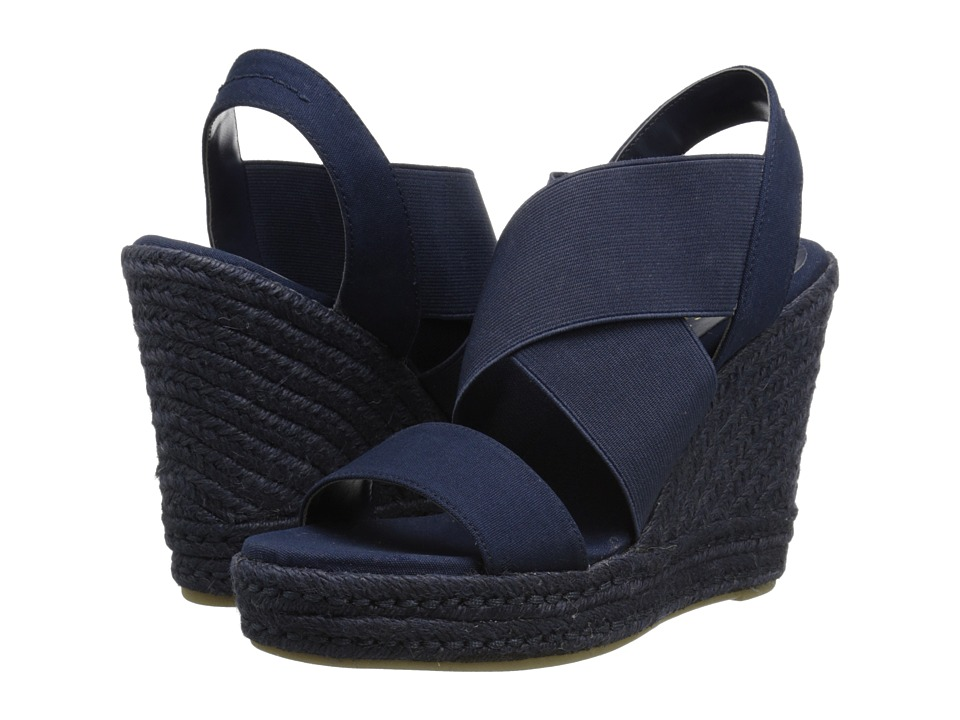 LAUREN by Ralph Lauren - Erica (Modern Navy/Canvas Elastic) Women's Wedge Shoes