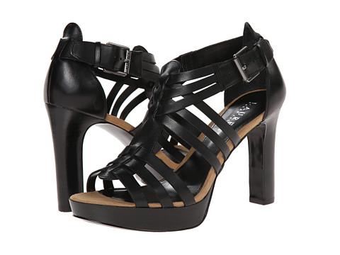 LAUREN by Ralph Lauren - Safia (Black Burnished Vacchetta) High Heels