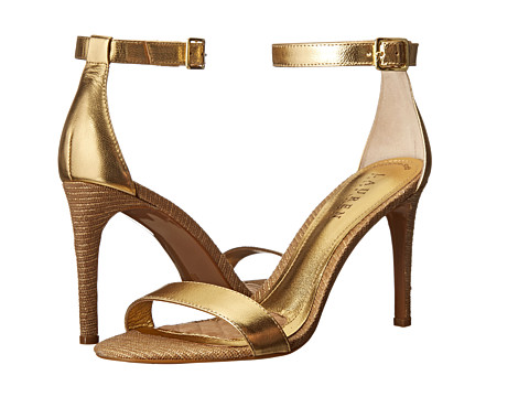 LAUREN by Ralph Lauren - Samantha (RL Gold Metallic Kid/Lurex Straw) High Heels