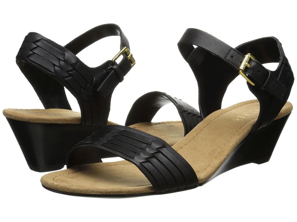 LAUREN Ralph Lauren - Latrice (Black Burnished Vacchetta) Women's Sandals