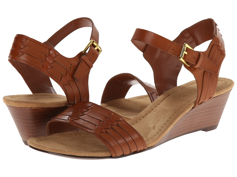LAUREN Ralph Lauren - Latrice (Polo Tan Burnished Vacchetta) Women's Sandals
