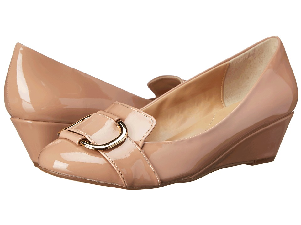 Fitzwell - Nicky (Blush Patent) Women's Wedge Shoes