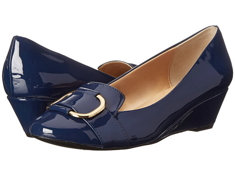 Fitzwell - Nicky (Navy Patent) Women's Wedge Shoes