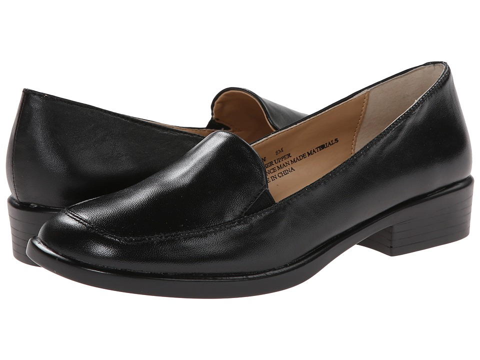 Fitzwell - Vivian II (Black Nappa Leather) Women's Slip on Shoes