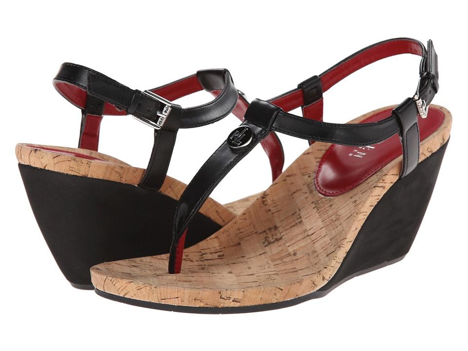 LAUREN Ralph Lauren - Reeta (Black Kidskin PU) Women's Sandals