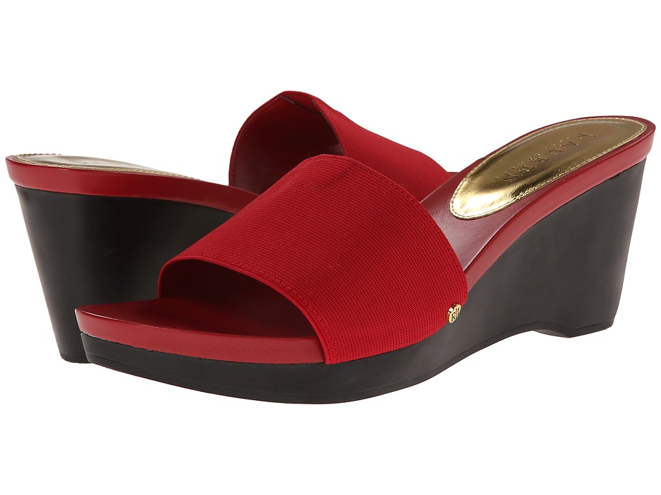 LAUREN by Ralph Lauren - Rubina (RL Bright Red Elastic) Women's Wedge Shoes