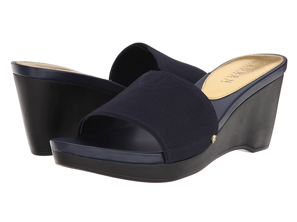 LAUREN by Ralph Lauren - Rubina (Modern Navy Elastic) Women's Wedge Shoes