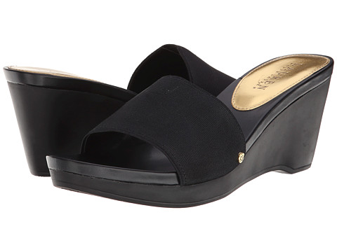 LAUREN by Ralph Lauren - Rubina (Black Elastic) Women's Wedge Shoes