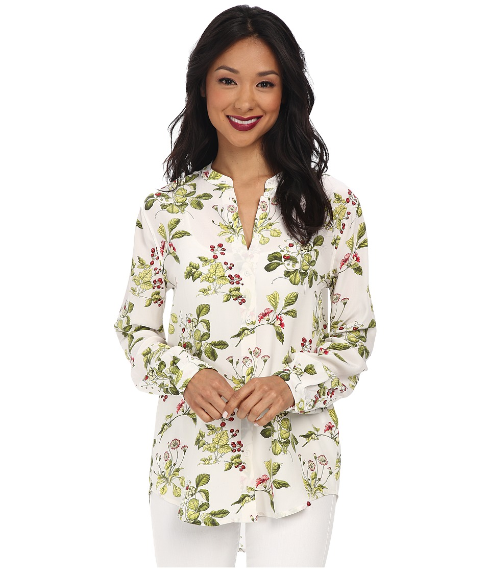 EQUIPMENT - Henri Top (Bright White Multi) Women's Long Sleeve Button Up