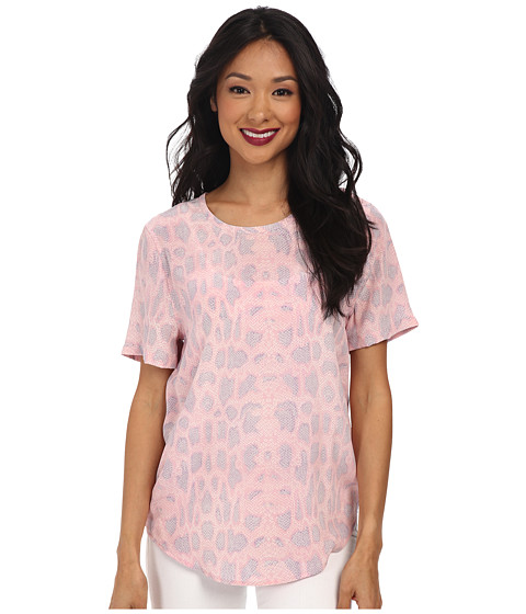 EQUIPMENT - Riley Tee (Powder Pink Multi) Women's T Shirt
