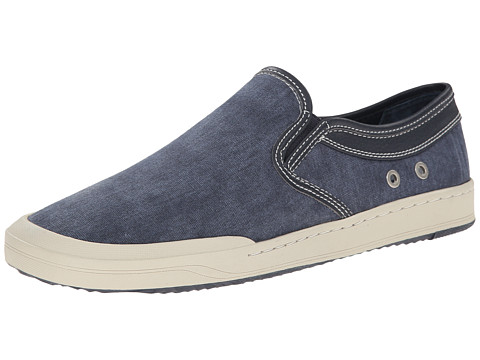 Bass - Hopewell (Navy Washed Canvas) Men's Slip on Shoes