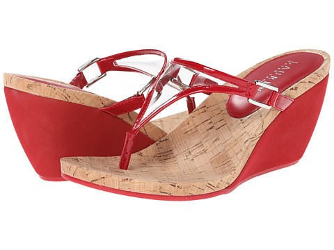 LAUREN by Ralph Lauren - Rula (Clear/RL Bright Red PVC/Patent PU) Women