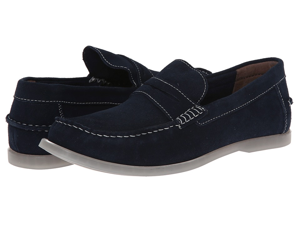 Bass - Keane (Navy Suede) Men's Slip on Shoes