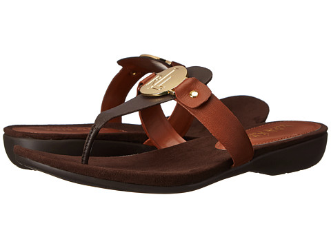 LAUREN by Ralph Lauren - Kalana (Dark Brown/Polo Tan Oiled Nappa) Women's Sandals