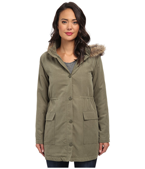 Jack by BB Dakota - Welker Microtwill Coat (Ivy Green 1) Women