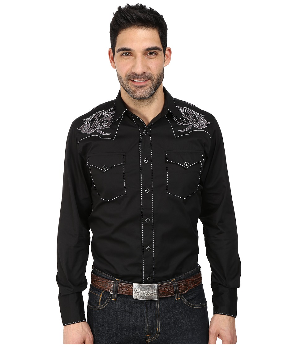 Roper - 100 Contrast Twill w/ Tribal Keystone Embroidery (Black) Men's Clothing