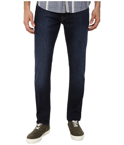 LOVE Moschino - Slim Leg Jean with Yellow Stitch (Blue) Men
