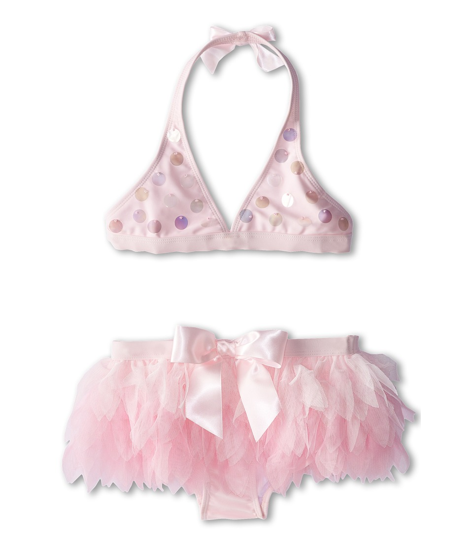 Kate Mack - Swan Lake Act II Swim Bikini Skirted (Big Kids) (Pink) Girl's Swimwear Sets